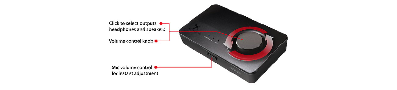 Karta muzyczna ASUS Xonar U5 USB - Kontrola