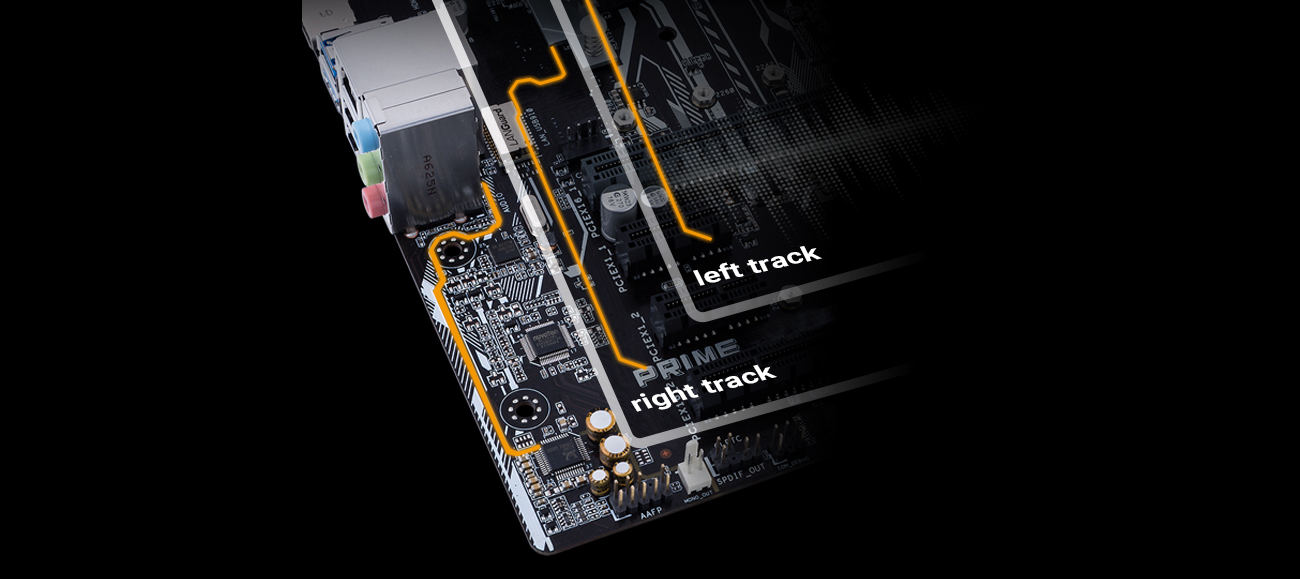 ASUS Z270-P podwójne ścieżki audio