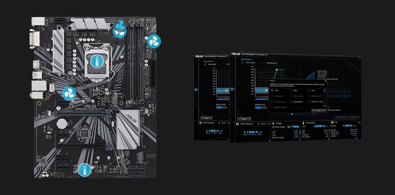 ASUS PRIME Z370-P II Fan Xpert 4 Core