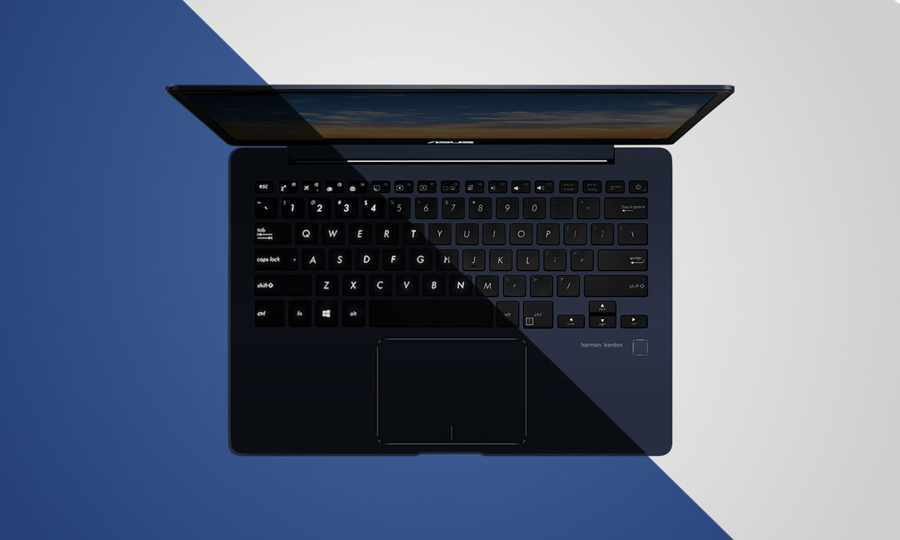 ASUS ZenBook 13 UX331UN Pełnowymiarowa, podświetlana klawiatura