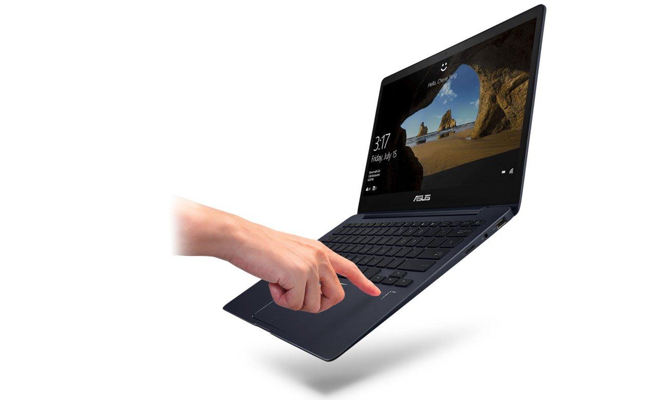ASUS ZenBook 13 UX331UN Czytnik linii papilarnych, Windows Hello