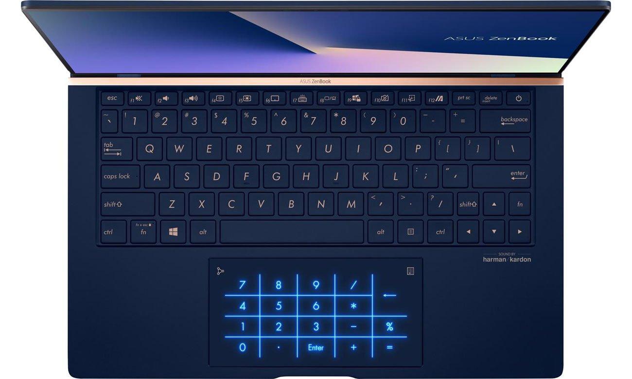 Klawiatura numeryczna w touchpadzie