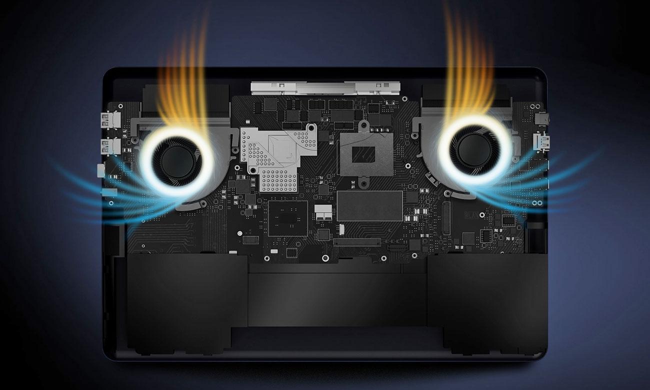 ASUS ZenBook Pro 15 UX550GE Układ chłodzenia z 2 wentylatorami
