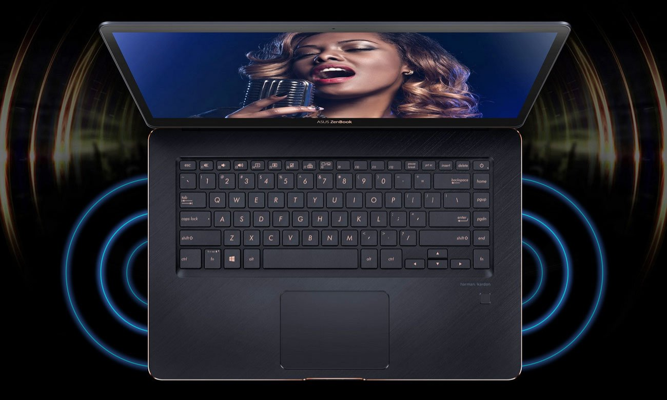 ASUS ZenBook Pro 15 UX550GE System dźwiękowy Harman Kardon