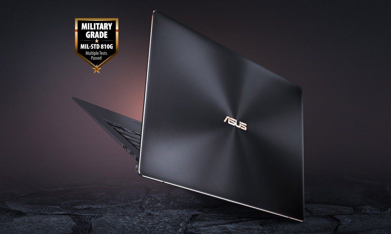 ASUS ZenBook S UX391UA Wytrzymałość na poziomie militarnym