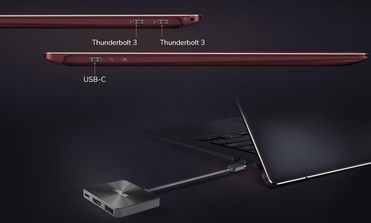 ASUS ZenBook S UX391UA Błyskawiczny przesył danych z Thunderbolt 3