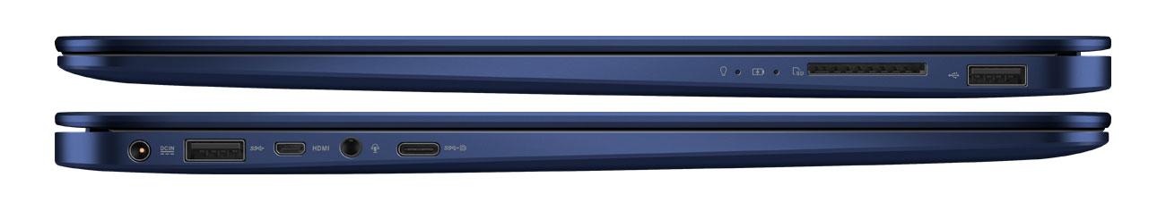 ASUS ZenBook UX430UA usb typuC micro hdmi karty sd prędkość transferu