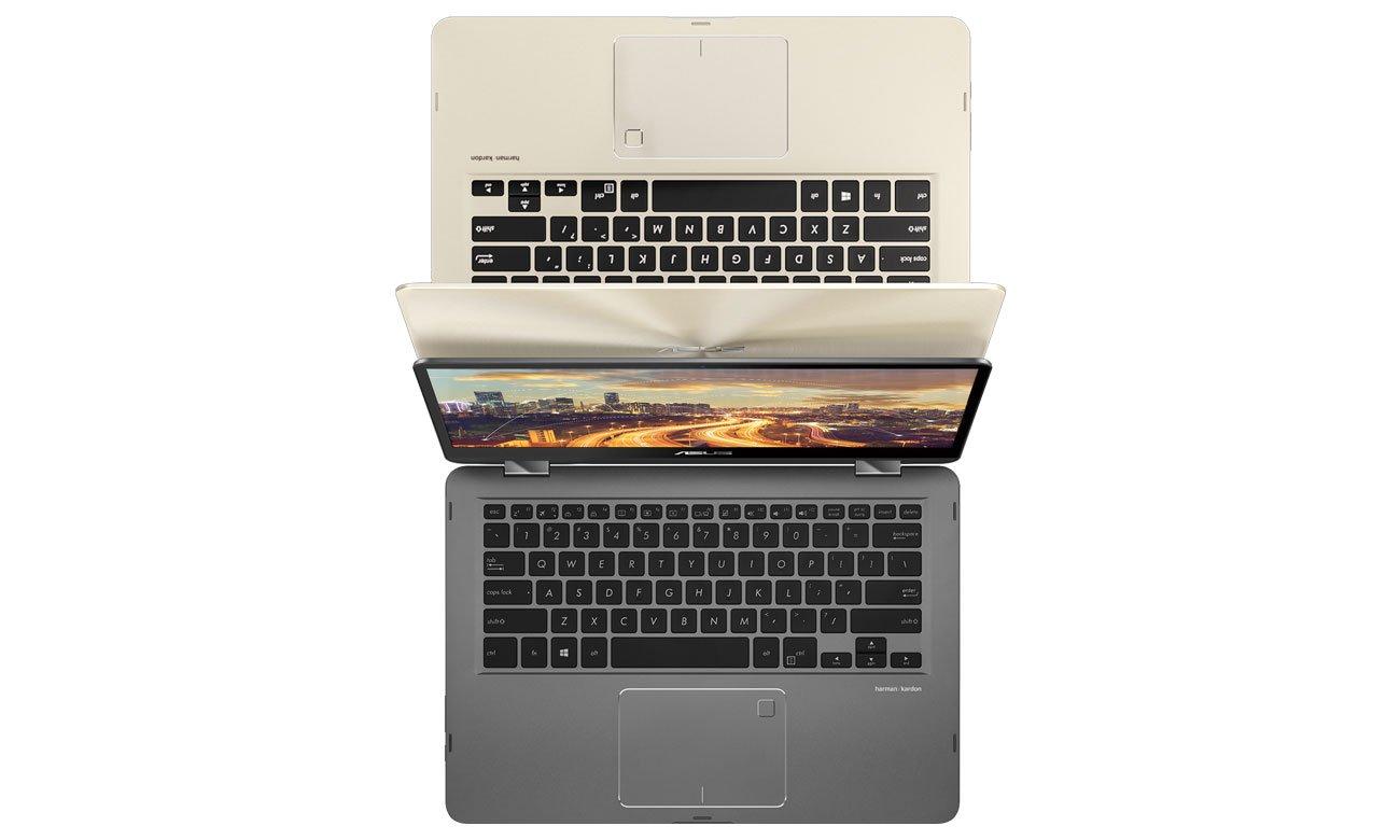 ASUS ZenBook Flip 14 UX461UA podświetlana klawiatura i intuicyjny touchpad
