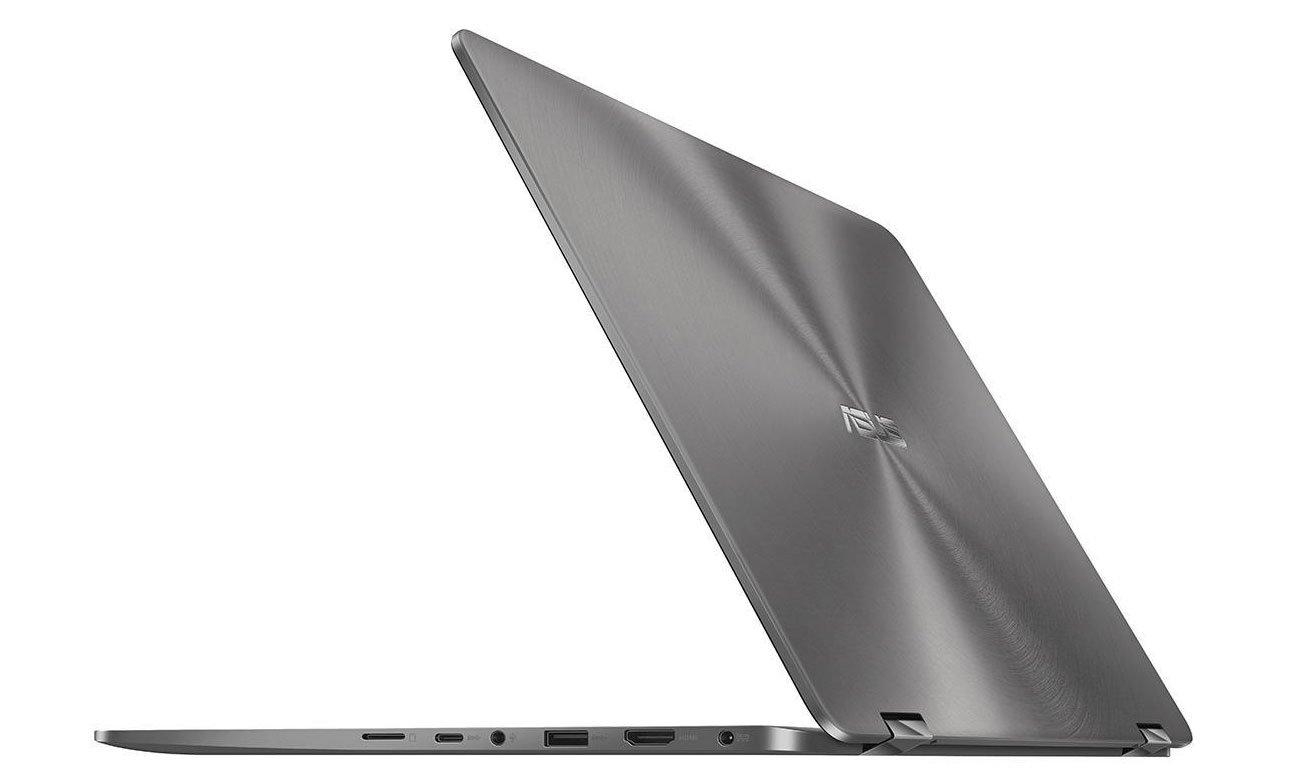 ASUS ZenBook Flip 14 UX461UA Szeroka gama portów, wbudowany czytnik linii papilarnych