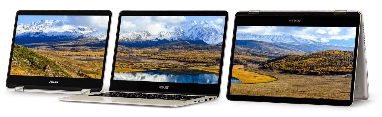 ASUS ZenBook Flip 14 UX461UA Wyświetlacz Full HD NanoEdge z ultrasmukłymi ramkami