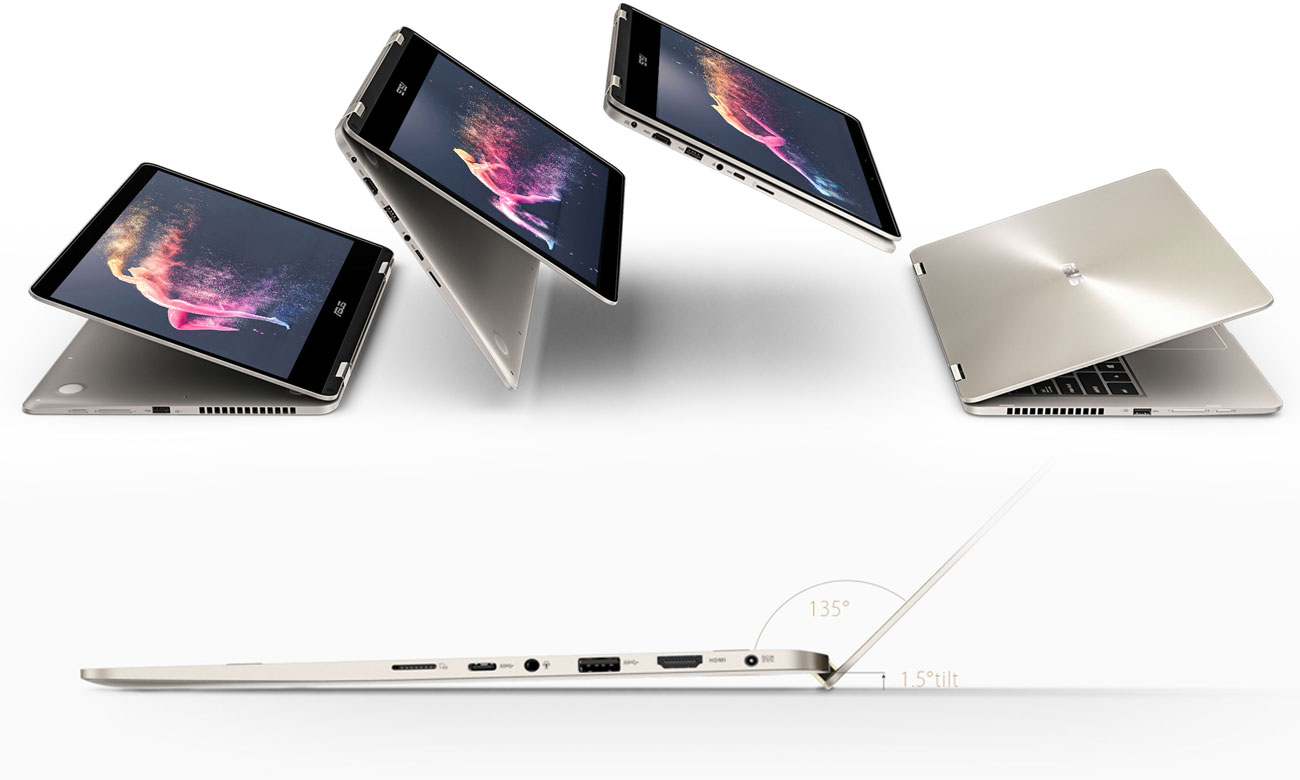 ASUS ZenBook Flip 14 UX461UA Metalowy mechanizm zawiasów 360 stopni