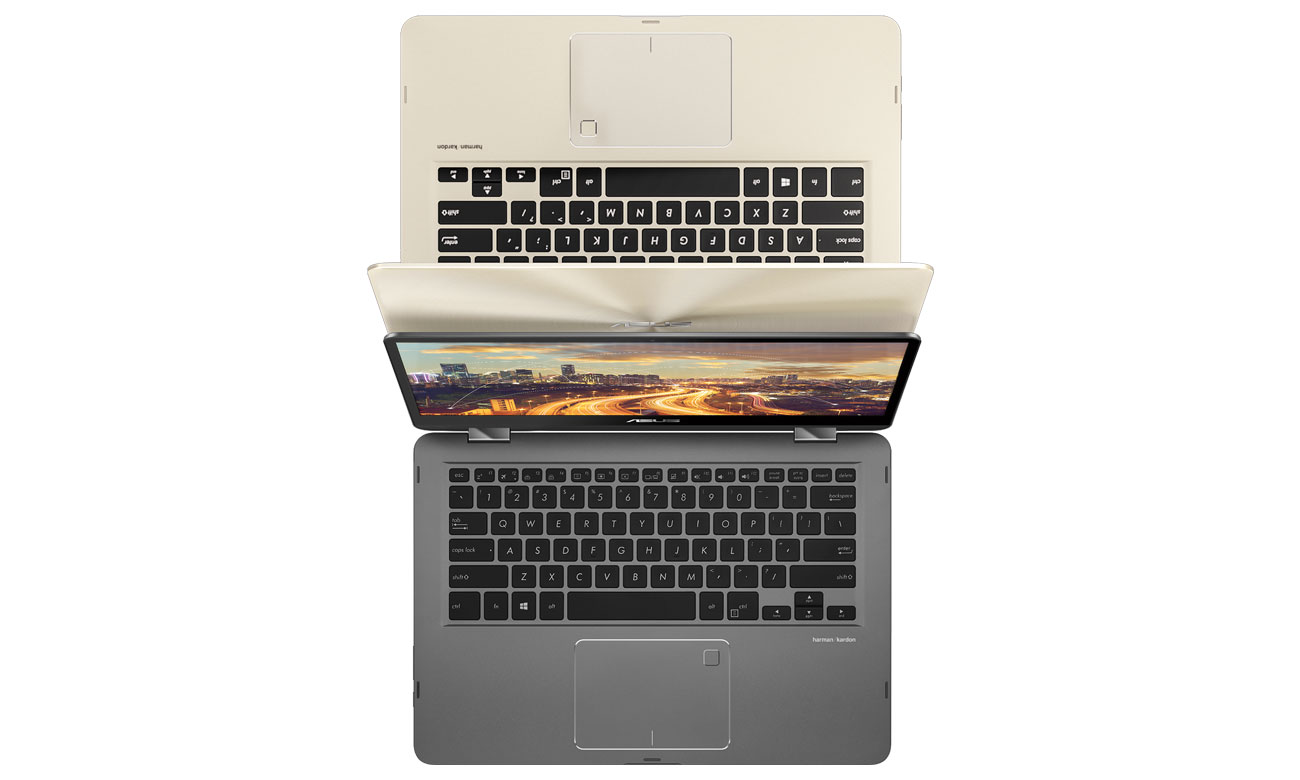 ASUS ZenBook Flip 14 UX461UN Ergonomiczna klawiatura i intuicyjny touchpad