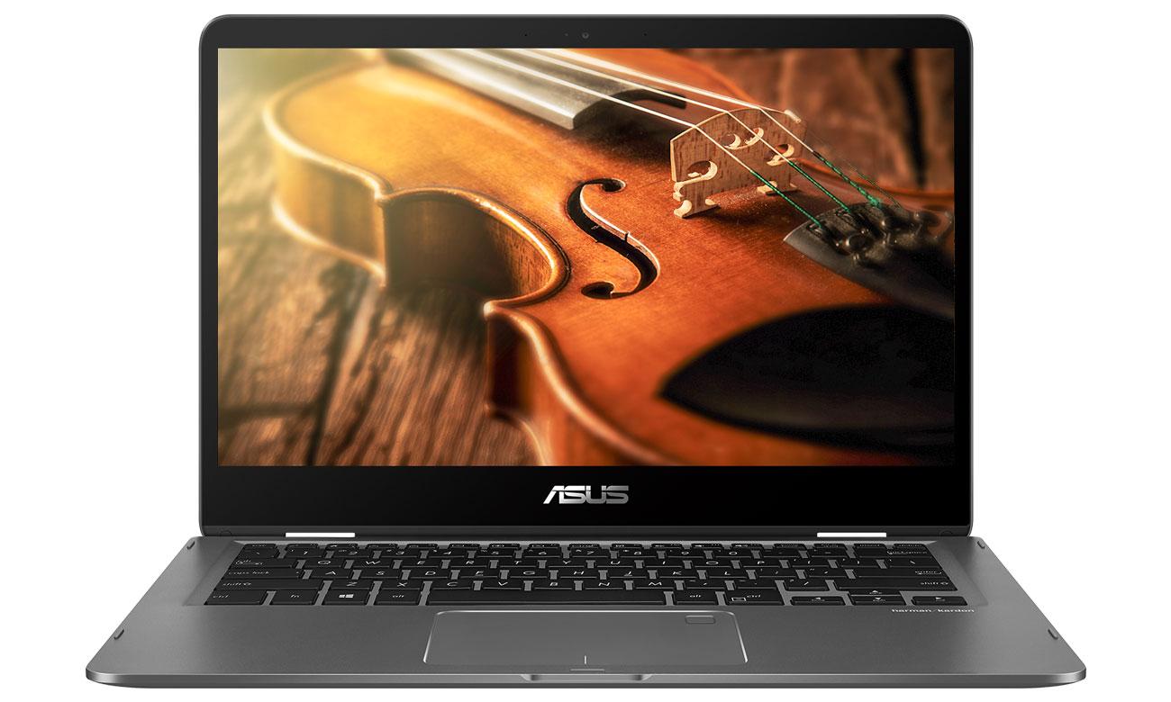 ASUS ZenBook Flip 14 UX461UN Dźwięk, który Cię zachwyci, Harman Kardon