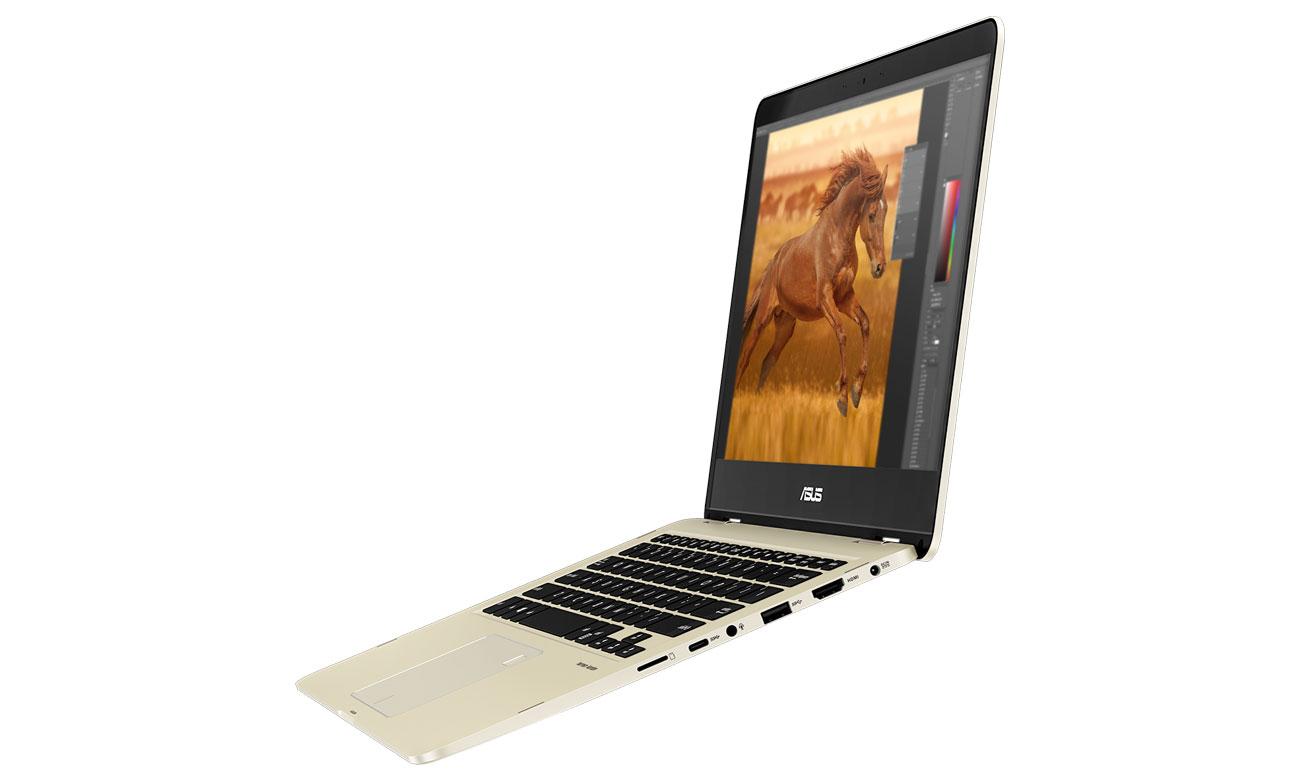 ASUS ZenBook Flip 14 UX461UN Szeroka gama portów, wbudowany czytnik linii papilarnych