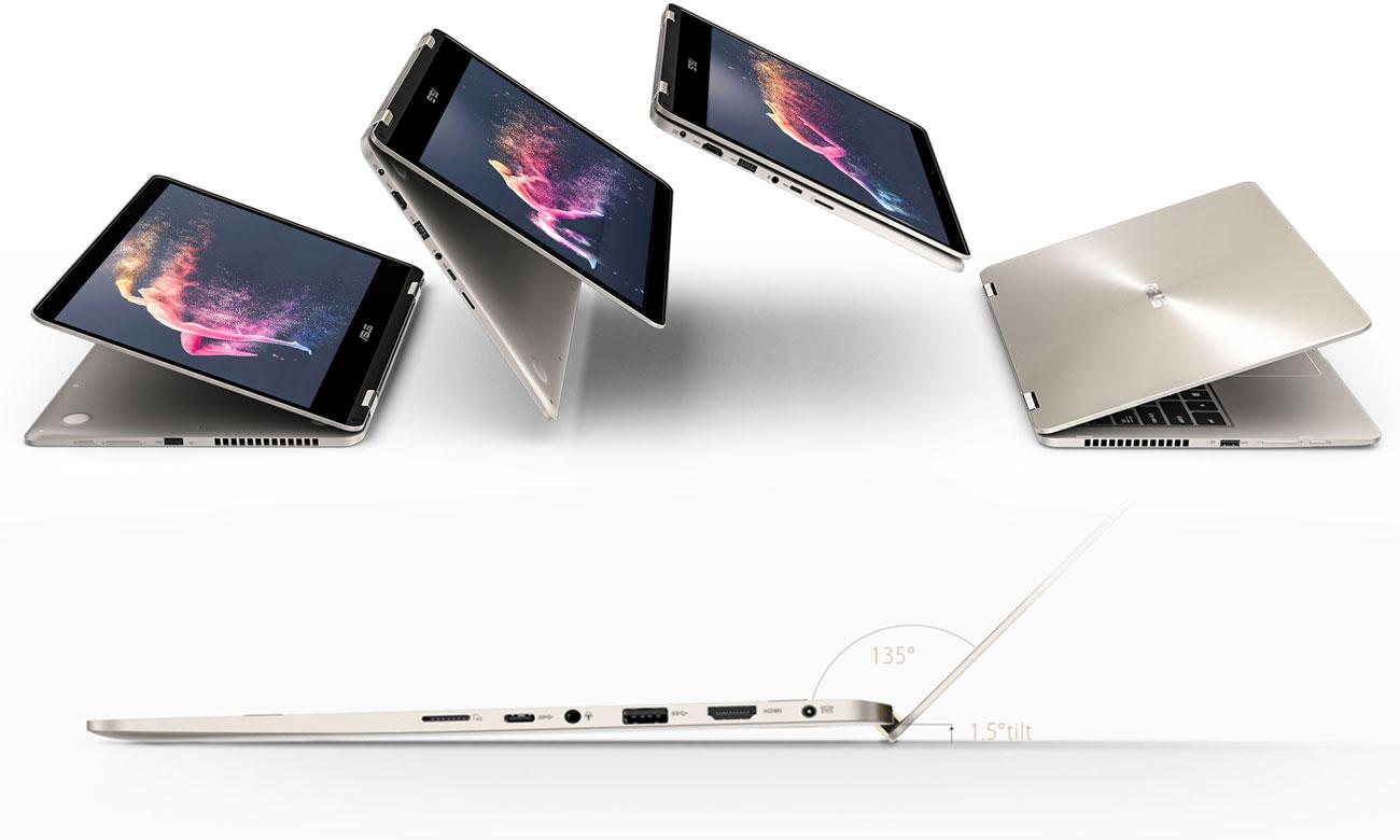 ASUS ZenBook Flip 14 UX461UN Metalowy mechanizm zawiasów 360 stopni
