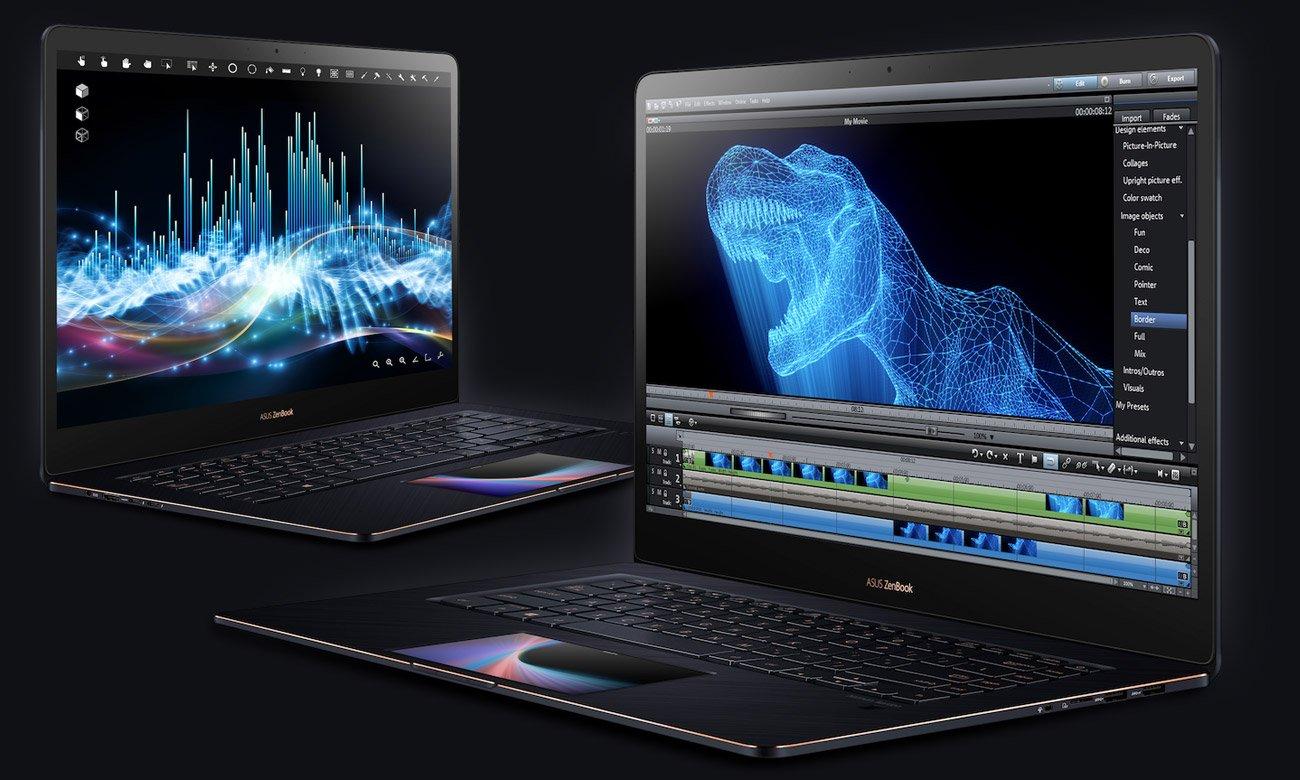 ASUS ZenBook Pro 15 UX580GE Potężny układ GeForce GTX 1050Ti