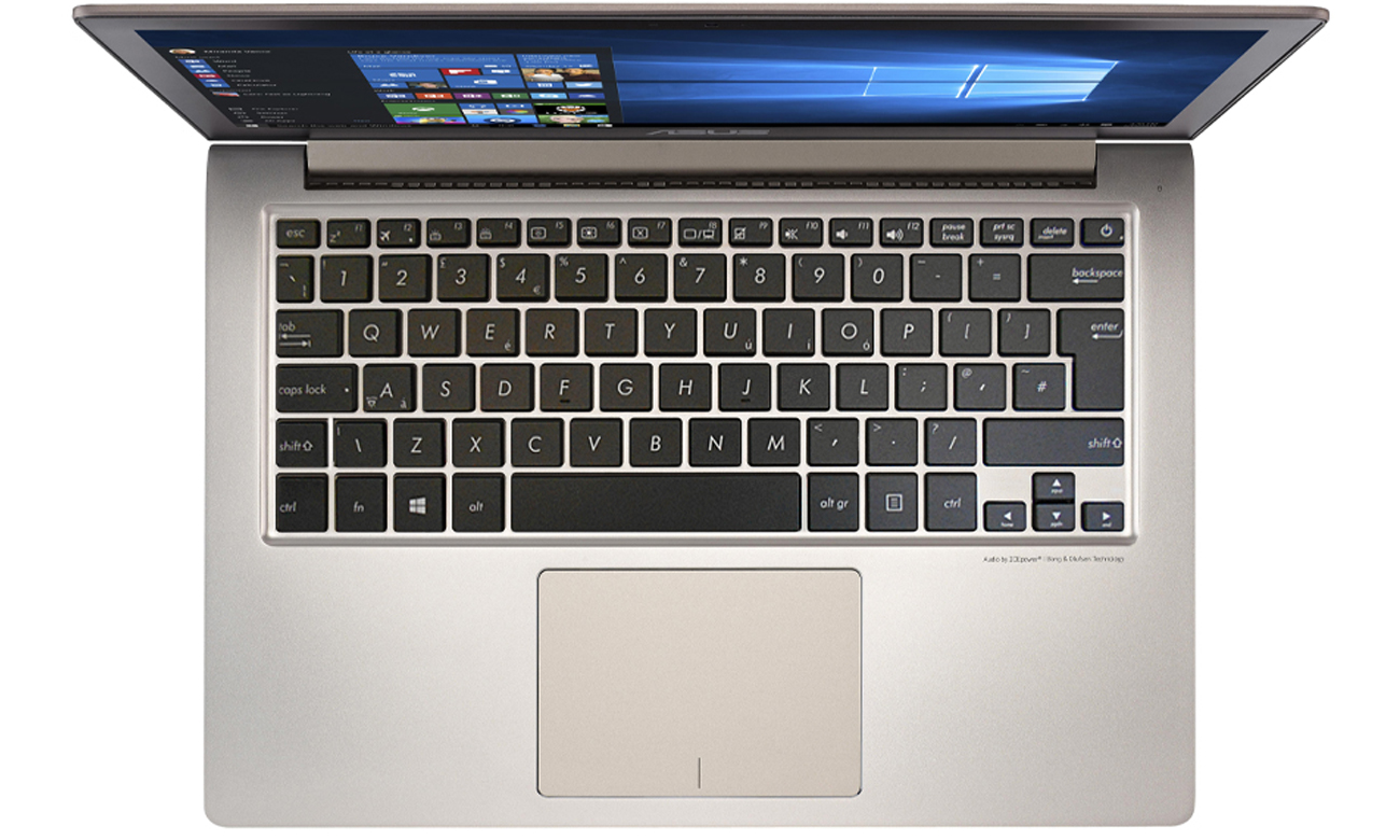 ASUS ZenBook UX303UB podświetlana klawiatura panel dotykowy msart gesture