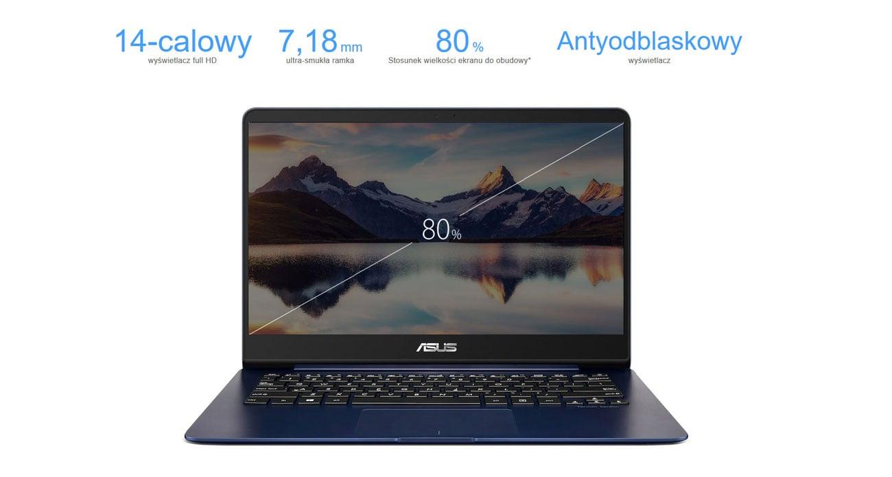 ASUS ZenBook UX430UN wyświetlacz full hd