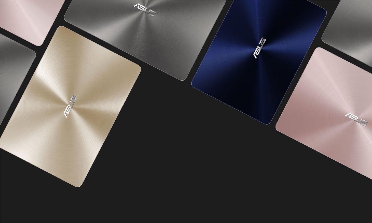 Laptop ASUS ZenBook UX430UQ elegancja prezycyjne wykonanie technologia nanolitograficzna błyszcząca powłoka