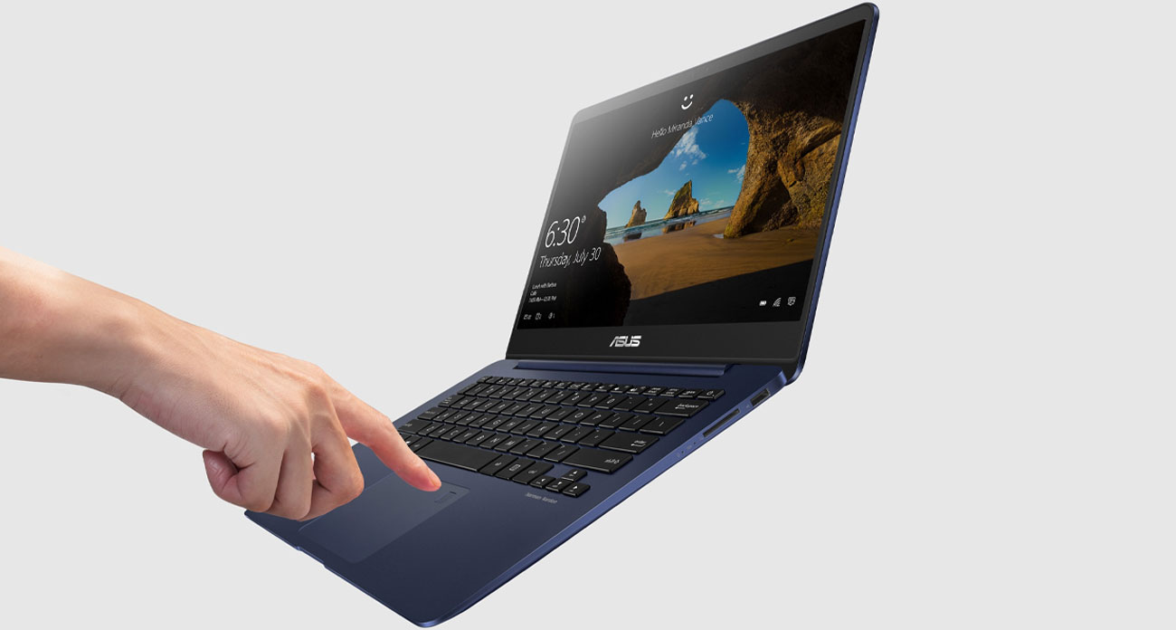 Laptop ASUS ZenBook UX430UA czytnik linii papilarnych