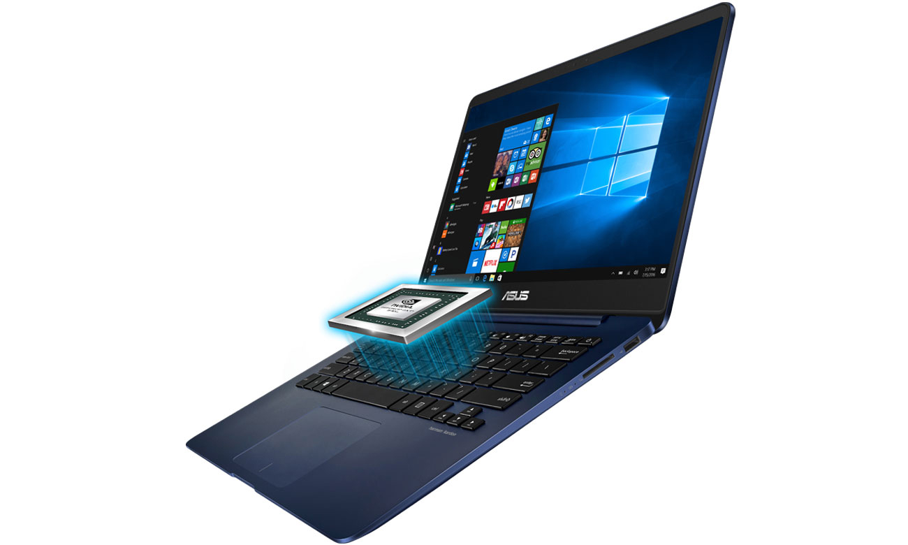 Laptop ASUS ZenBook UX430UQ karta graficzna NVIDIA GeForce efekty graficzne