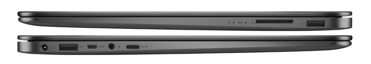 Laptop ASUS ZenBook UX430UQ usb typeC micro hdmi karty sd prędkość transferu