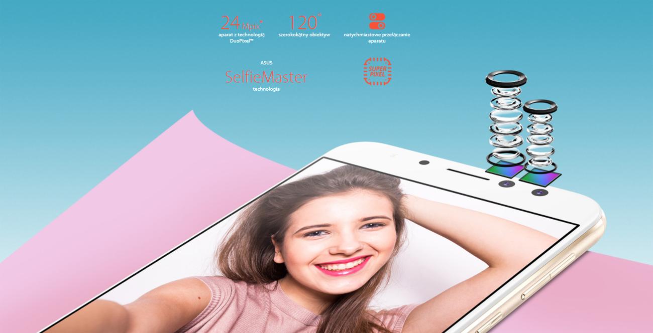 ASUS Zenfone 4 Selfie Pro aparat podwójny duopixel 24 mpix