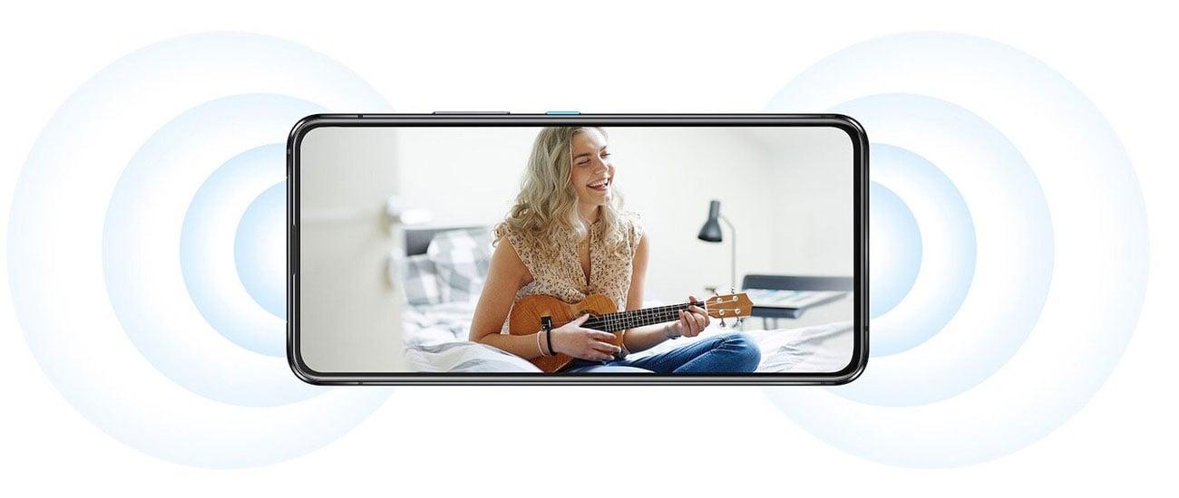 ASUS ZenFone 8 Flip 256 GB Silver dwa głośniki