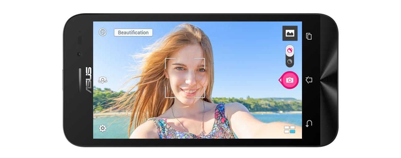 ZenFone Go ZB500KG upiekszanie w czasie rzeczywistym