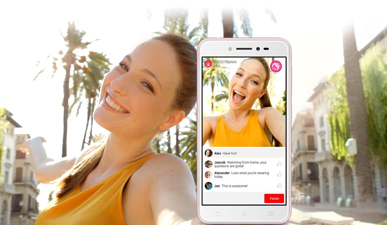 Zenfone Live ZB501KL beautylive upiększanie na zywo