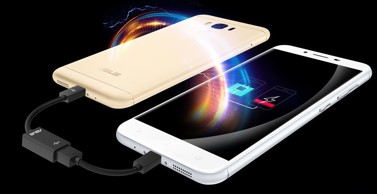 ASUS Zenfone 3 Max Laser ZC553KL reverse charging power bank