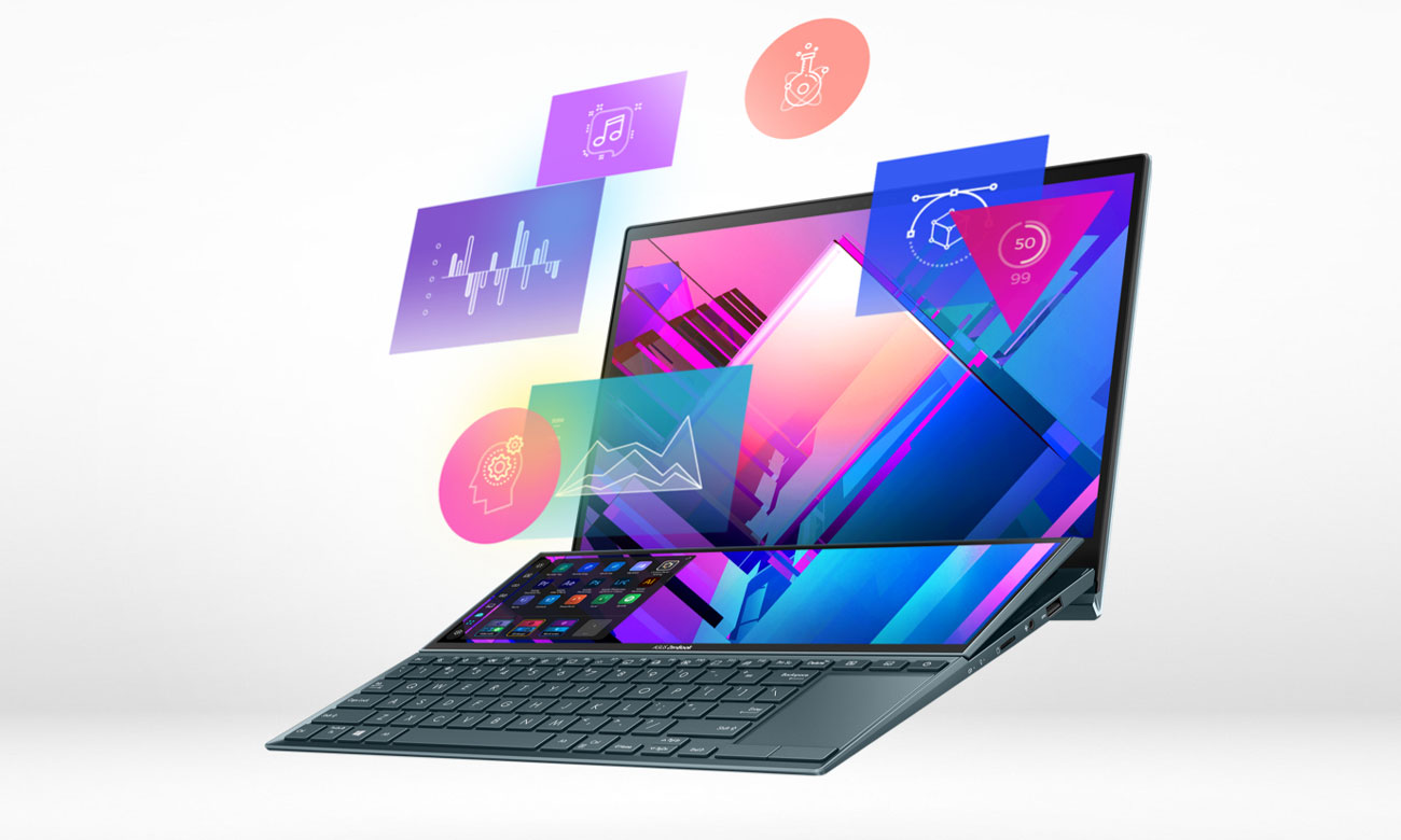 ASUS ZenBook Duo UX482 płynna praca laptopa
