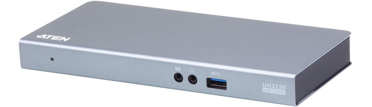 Stacja dokująca do laptopa ATEN USB-C (4K, PD, USB 3.1, Ethernet, Audio) UH3230