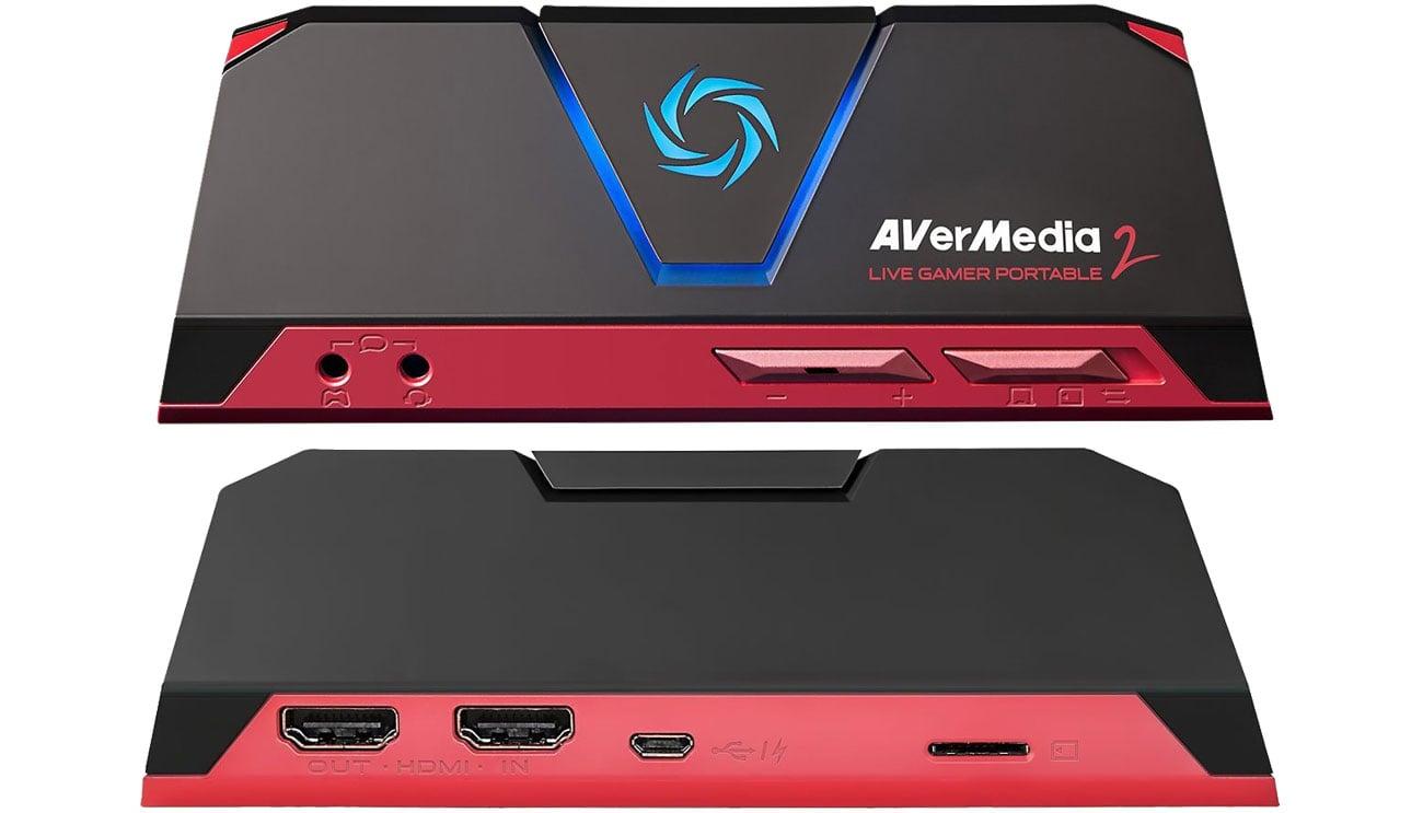 Karta przechwytująca wideo AVerMedia Live Gamer Portable 2 61GC5100A0AB