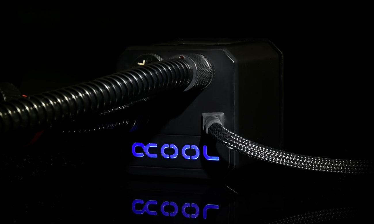 Alphacool Eisber 140 Pompa wody, podświetlenie
