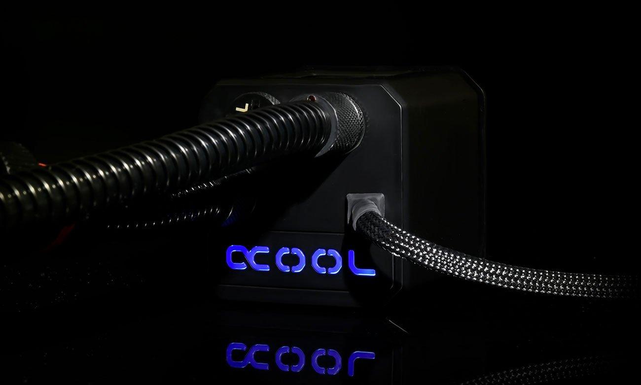 Alphacool Eisber 420 Pompa wody, podświetlenie