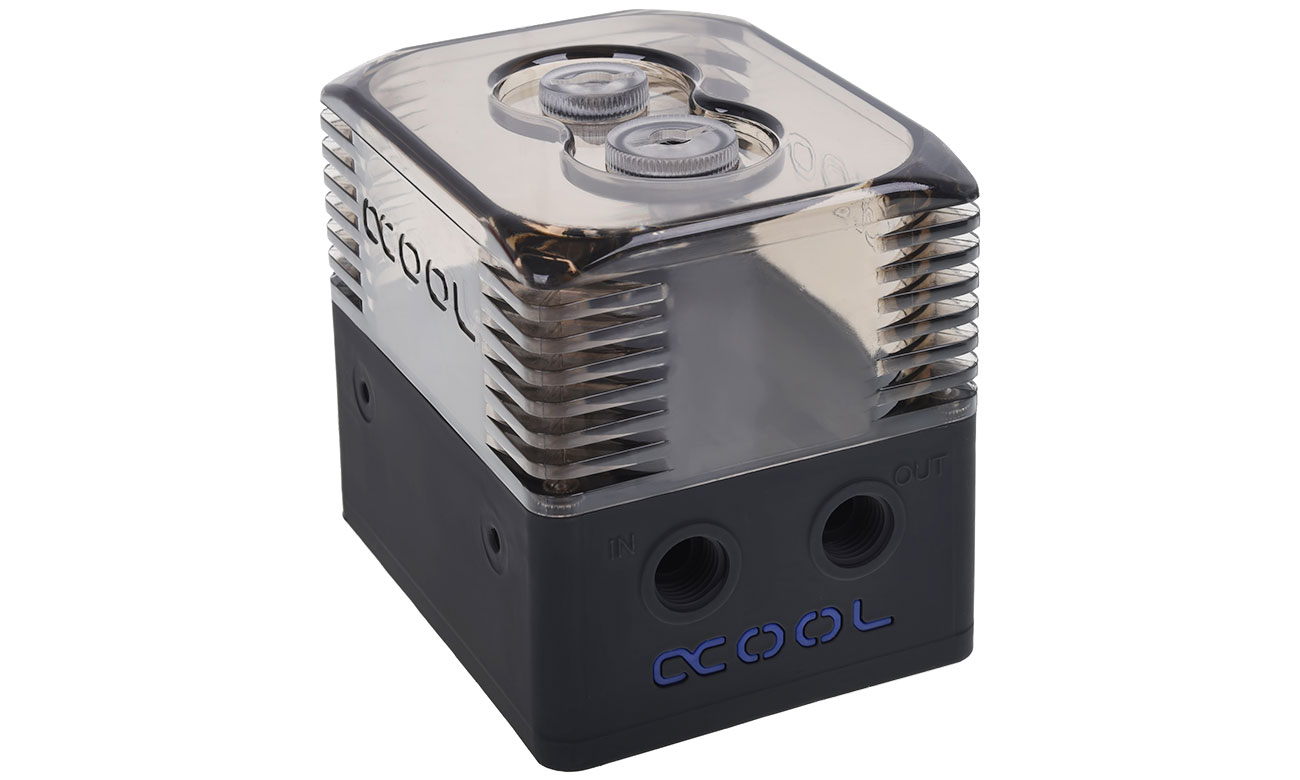Alphacool Eissturm Gaming Copper 30 2x140mm Zbiornik Eissturm