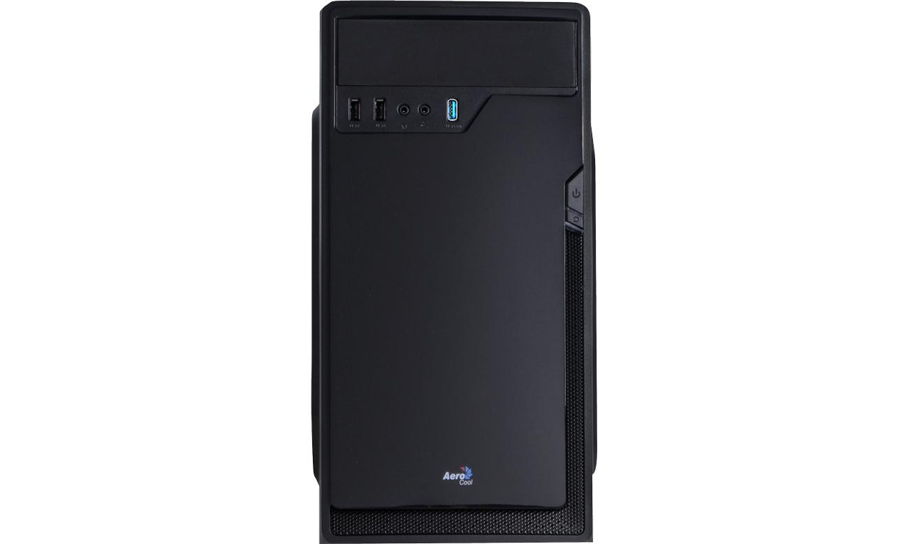 Obudowa do komputera AeroCool CS-100 konfiguracja wydajne podzespoły komponenty płyta główna ATX microATX karty graficzne chłodzenie