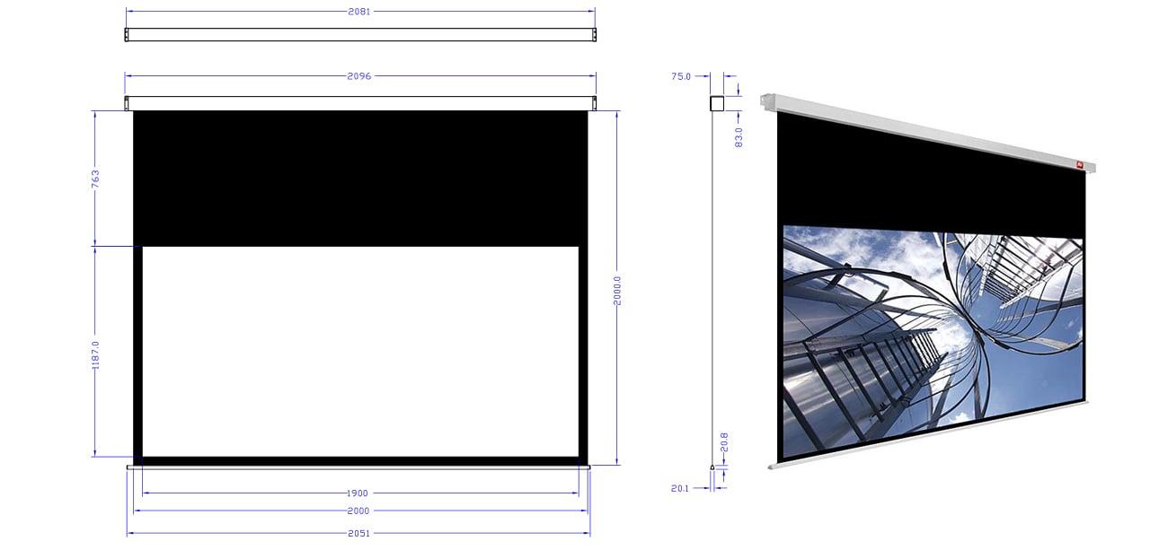 Ekran projekcyjny Avtek Business PRO 200