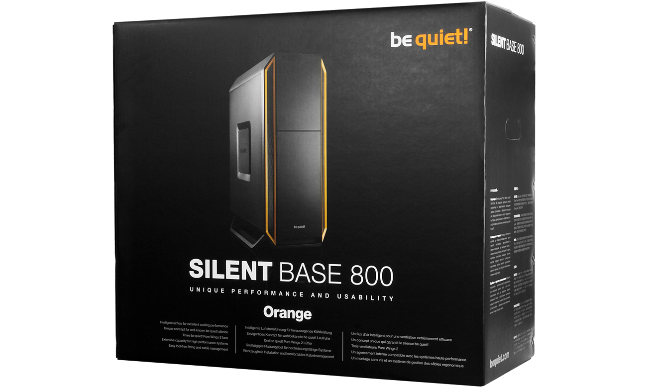 be quiet! Silent Base 800 box