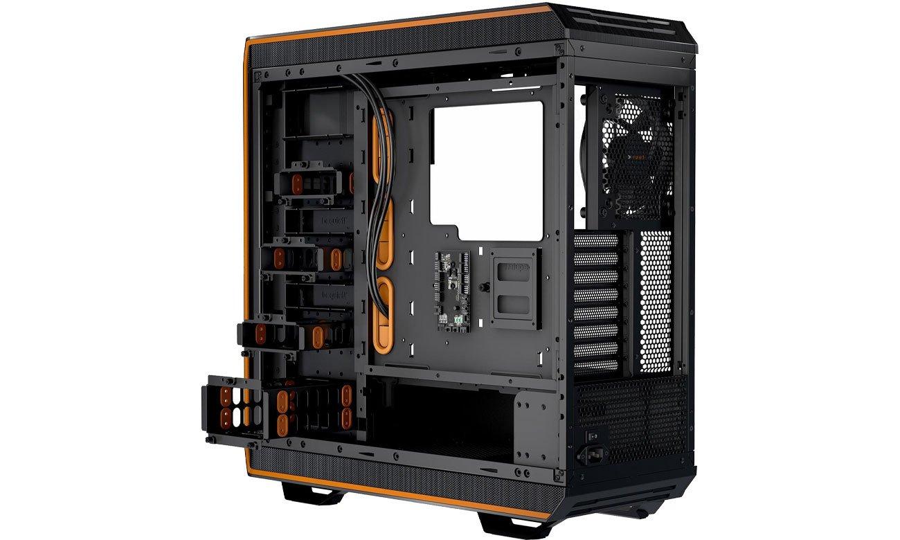be quiet! Dark Base Pro 900 Orange Rev.2 BGW14 Przód, góra, tył