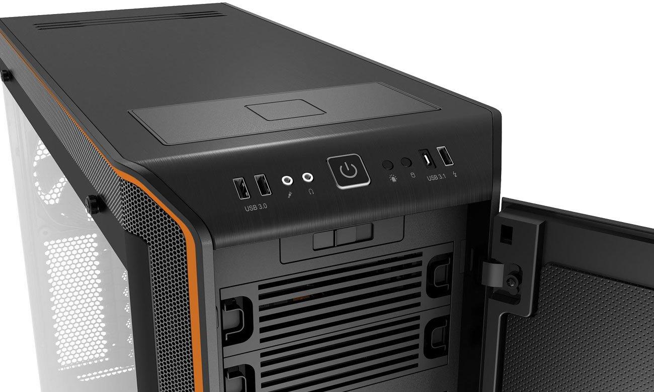 be quiet! Dark Base Pro 900 Orange Rev.2 BGW14 Ładowarka Qi, porty USB