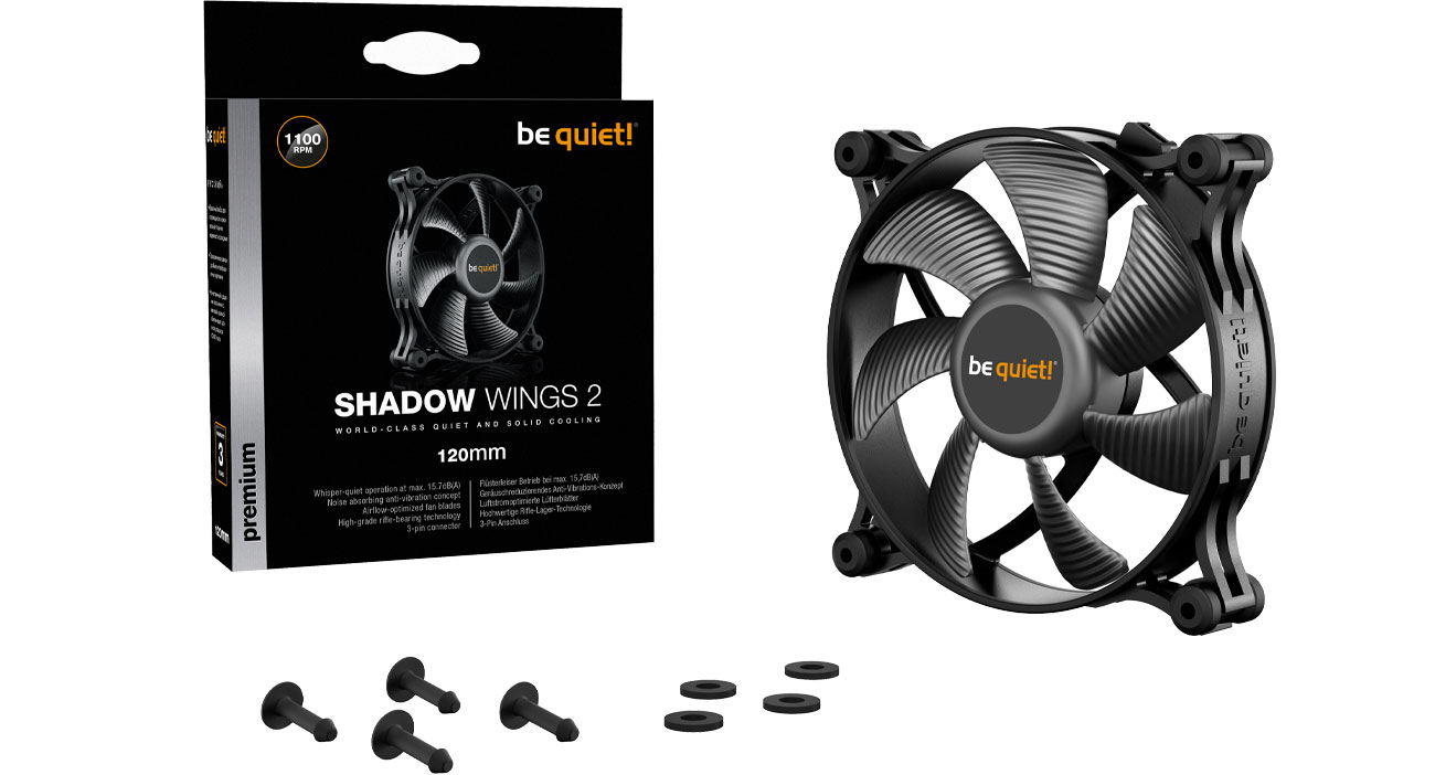 Wentylator do komputera be quiet! Shadow Wings 2 120mm BL084