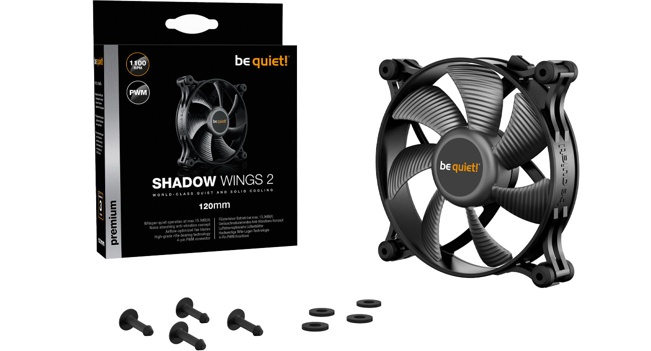 Wentylator do komputera be quiet! Shadow Wings 2 120mm PWM BL085