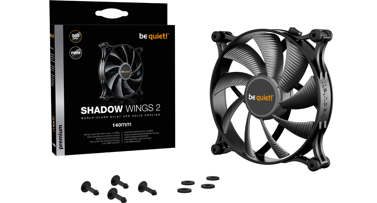 Wentylator do komputera be quiet! Shadow Wings 2 140mm PWM BL087