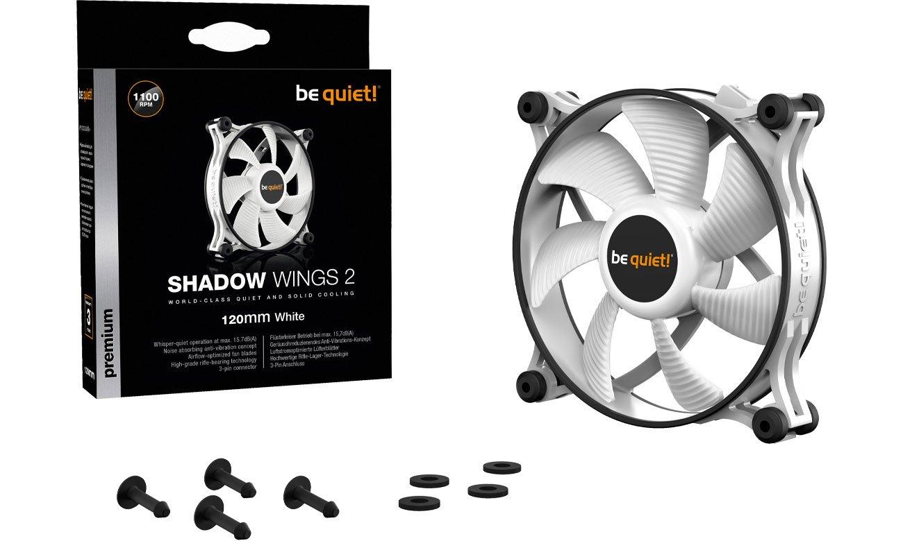 Wentylator do komputera be quiet! Shadow Wings 2 White 120mm BL088