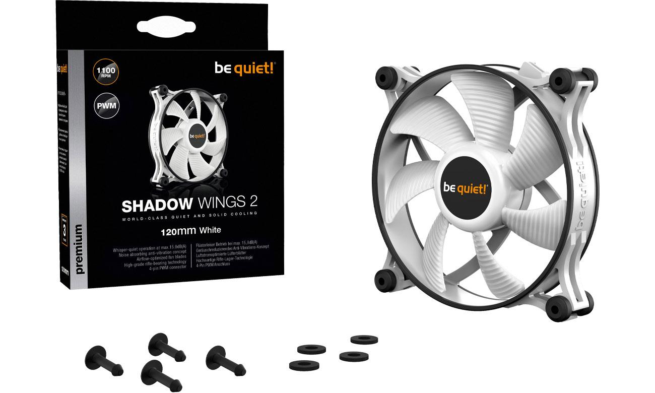 Wentylator do komputera be quiet! Shadow Wings 2 White PWM 120mm BL089