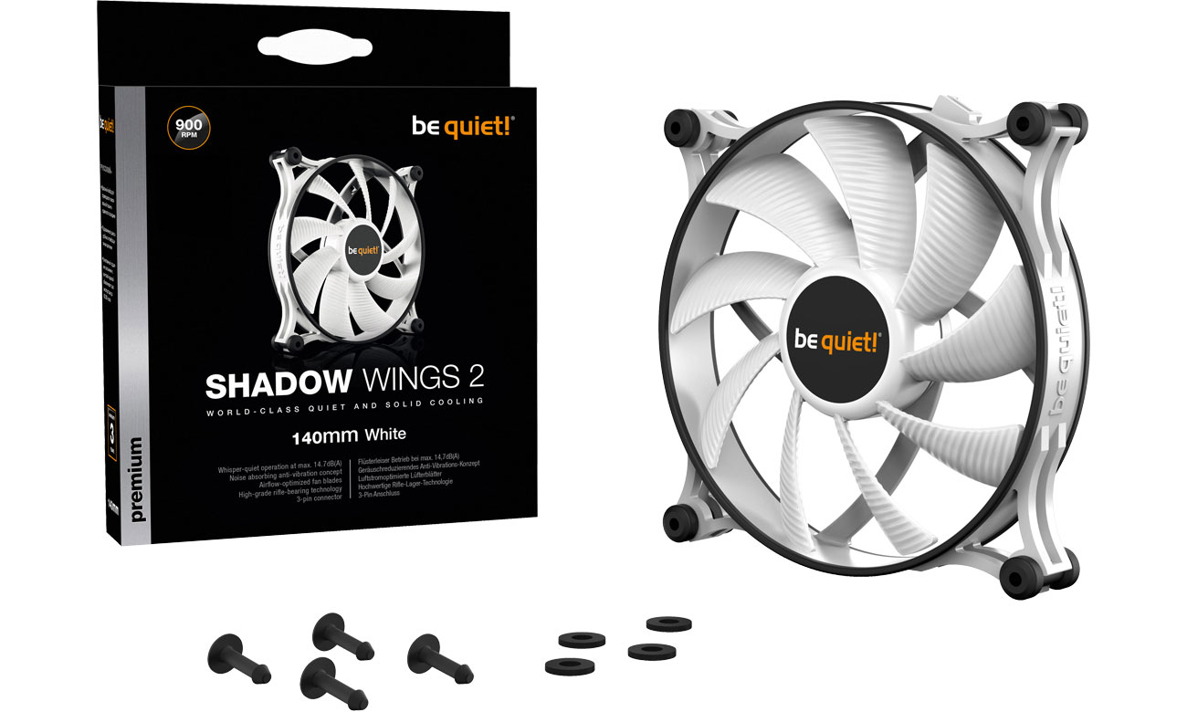 Wentylator do komputera be quiet! Shadow Wings 2 White 140mm BL090