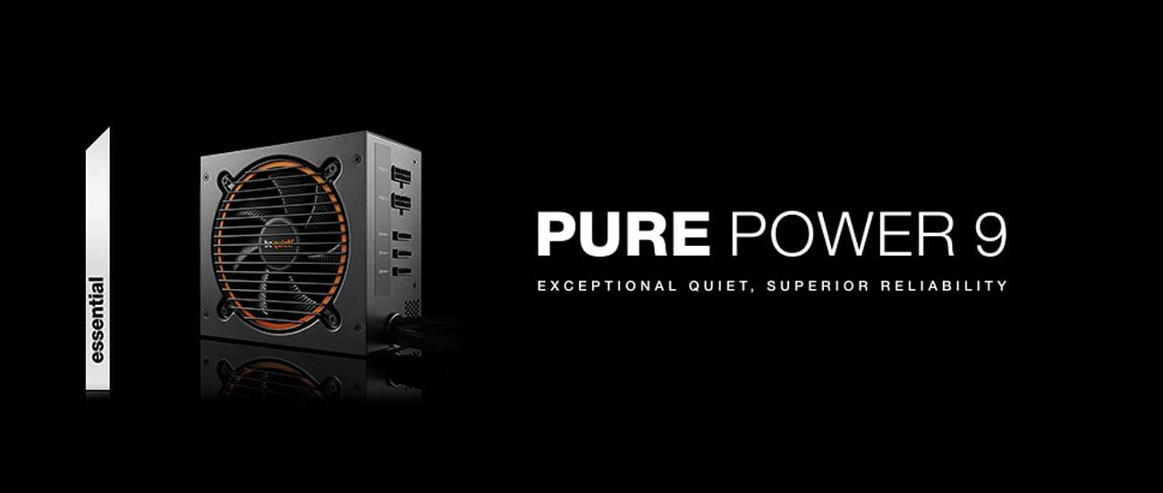 Zasilacz komputerowy Be Quiet 600W Pure Power 9 BOX BN268