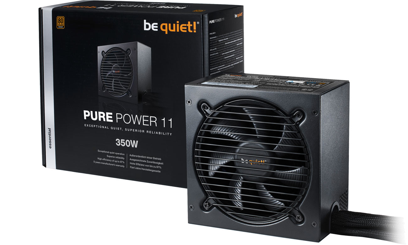 Zasilacz komputerowy be quiet! 350W PURE POWER 11 BN291